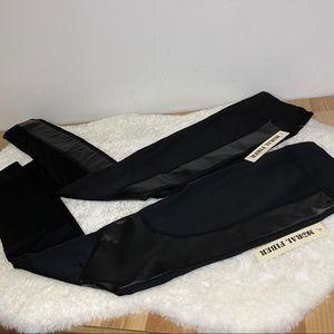 NWT 2 PC Black Leggings Size S/M Moral Fiber